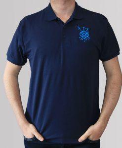7cd60eb6 IDPB - Navy Polo Shirt - Silver Embroidery | Clothing, Inveraray ...